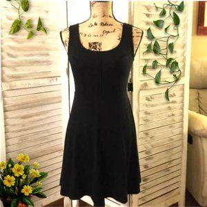 Black Sleeveless Mini Skater Dress
